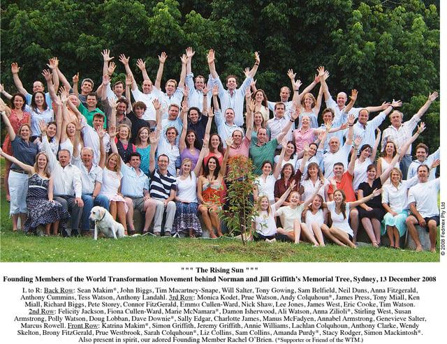 Founding members of the WTM, Sydney, December 2008