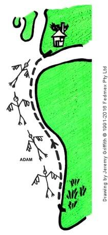 Adam Stork Story - 1. Storks flying before Adam became conscious