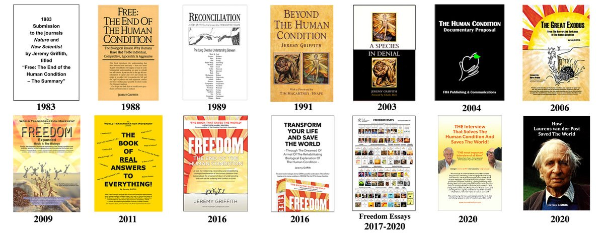 Jeremy Griffith's books and publications (freely available at the World Transformation Movement)