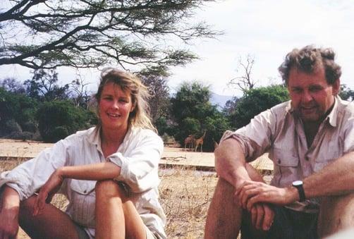 Jeremy Griffith & Annie Williams in Samburu National Park, Kenya 1992