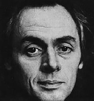 Close-up portrait of R D Laing