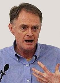 American journalist and educator, Richard Heinberg giving a public presentation