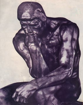 The Thinker, a bronze sculpture by Auguste Rodin