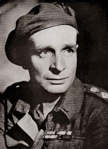 Portrait of Sir Laurens van der Post in army uniform
