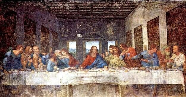'The Last Supper' by Leonardo da Vinci, 1495-98
