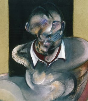 Francis Bacon's Study for self-portrait (detail) 1976