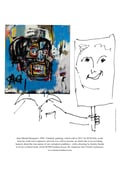 Basquiat's 'Untitled' painting with Jeremy Griffith's civilised mask