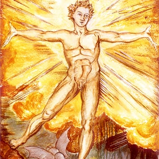 Albion Arose painting by William Blake