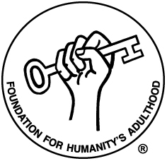 The Foundation for Humanity's Adulthood fist holding key Logo