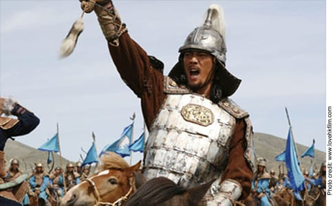 Is it human nature to be competitive, aggressive and angry? - Ghengis Khan riding into battle
