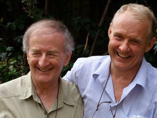 Professor Harry Prosen with Jeremy Griffith