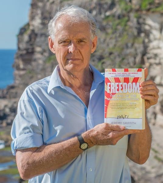 Jeremy Griffith holding is summa masterpiece, FREEDOM
