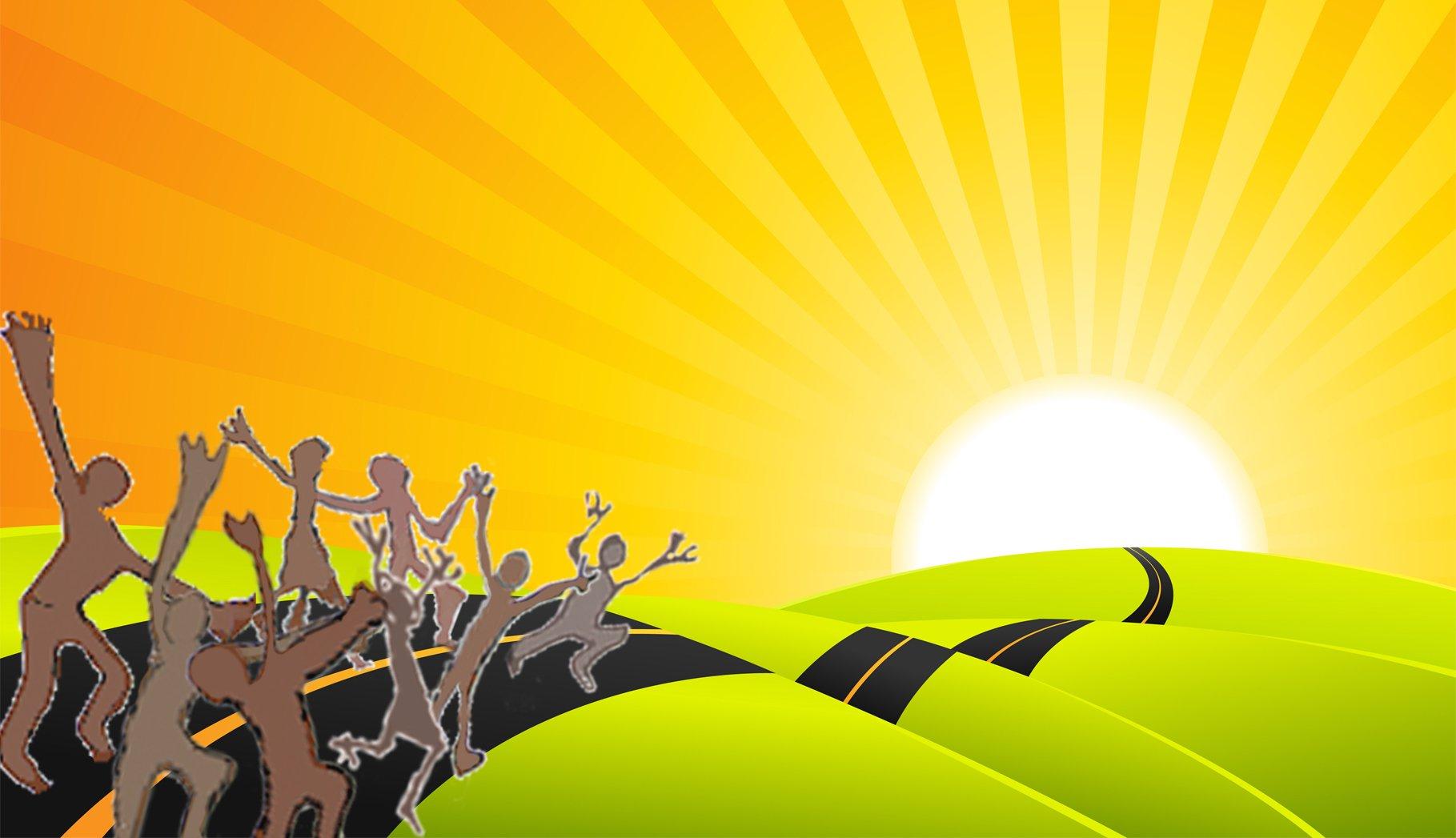 The Sunshine Highway to Freedom cartoon