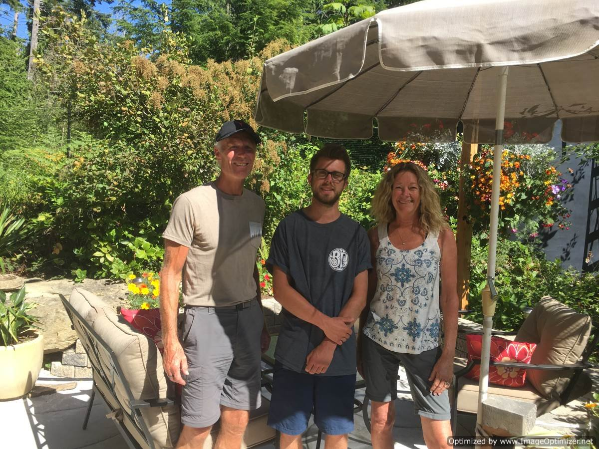 Bill and Cindy McCaugherty with Lucas Machlein