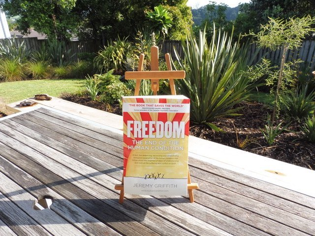 FREEDOM on easle in Pete Sadler's garden