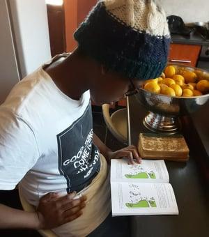 Reggie's son reading THE Interview