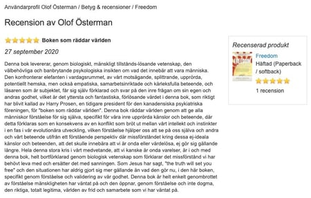 Bokus recension av FREEDOM